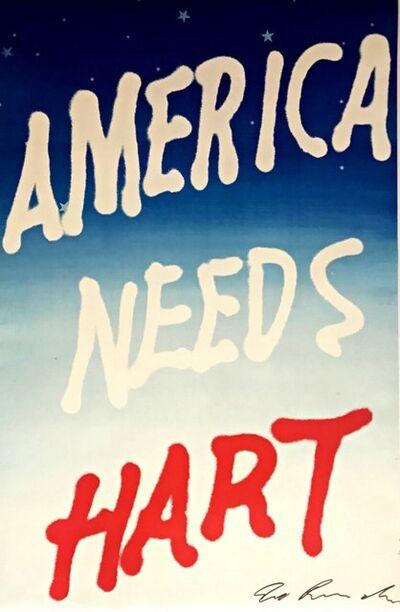 Ed Ruscha, 'America Needs Hart', 1983