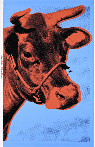 Andy Warhol, 'Cow (Blue And Salmon)', 1966