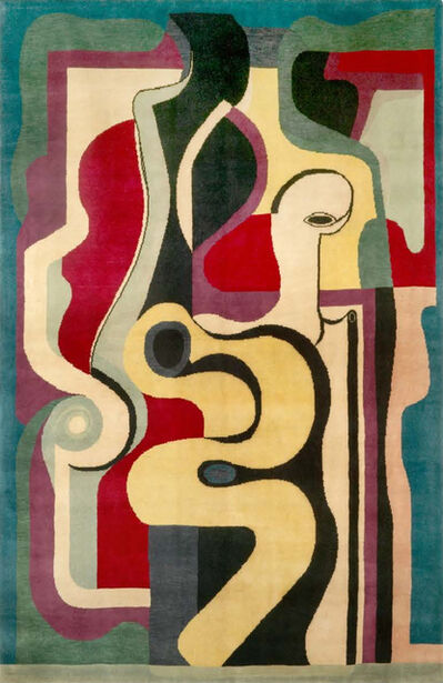 Auguste Herbin, 'Hand Knotted Artistic Natural Silk Rug after Auguste Herbin, Design N.66', 2010
