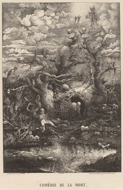Rodolphe Bresdin, 'Comedie de la Mort', 1854