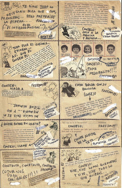 "Batato Barea, 'Untitled, (Flyer/collage for ""Freedom Disco"" and ""Crash Disco"")', 1988"