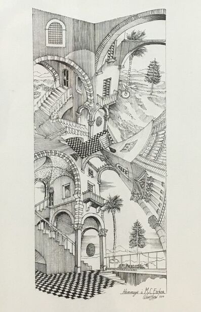 Octave Marsal, 'Homage to Escher', 2018