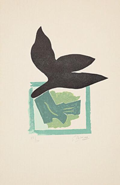 Georges Braque, 'Oiseau noir sur fond vert', 1962