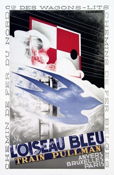 A.M. Cassandre, 'L'Oiseau Bleu', 1989
