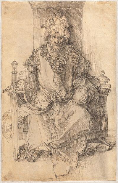 Albrecht Dürer, 'An Oriental Ruler Seated on His Throne', ca. 1495