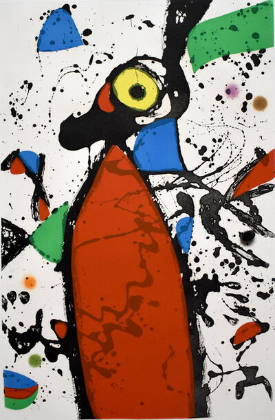 Joan Miró, 'Red Mouse with Mantilla | Souris rouge à la mantille', 1975