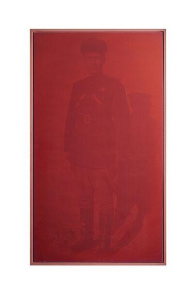 """Rosângela Rennó, 'Da série vermelha """"Militares""""', 2000"""