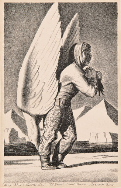 Rockwell Kent, 'Small Boy and Big Bird', 1962
