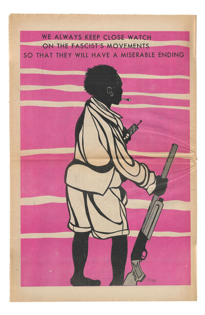 """Emory Douglas, '""""So that they will have a miserable ending""""', 1971"""