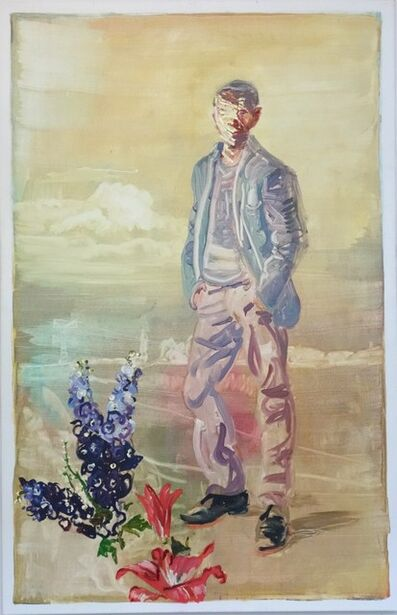 Peter Schmersal, 'Mann in brandenburgischer Landschaft', 2013