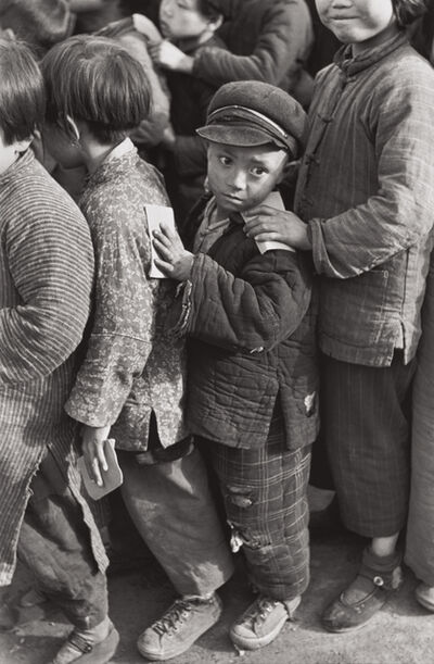 Henri Cartier-Bresson, 'Children await rice distribution, Shanghai, China', 1949