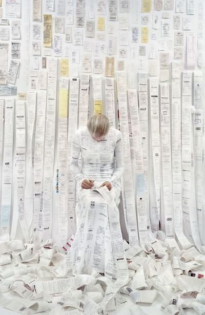 Rachel Perry, 'Lost in My Life (Receipts Seated)', 2016
