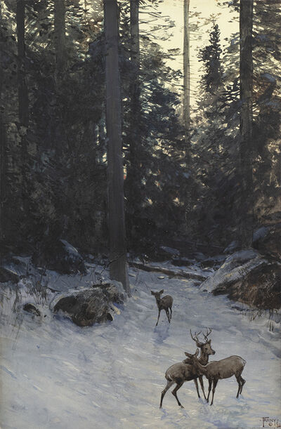 Henry F. Farny, 'Deer in the Forest', 1888