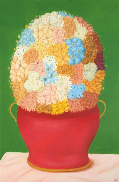 Fernando Botero, 'Flowers', 2018