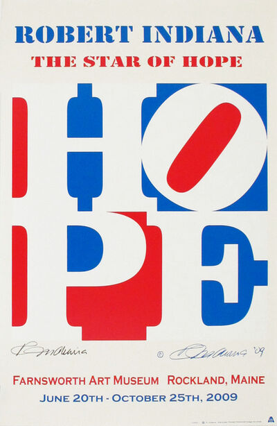 Robert Indiana, 'The Star of Hope, Farnsworth Art Museum Exhibition Announcement', 2009