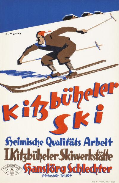 """Alfons Walde, 'Poster """"Kitzbüheler Ski""""'"""