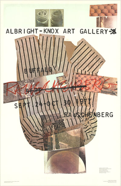 Robert Rauschenberg, 'Albright-Knox Art Gallery', 1976