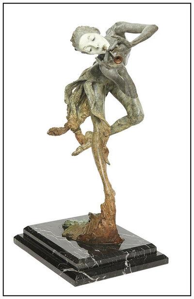 Richard MacDonald, 'Richard MacDonald The Trumpeter 1/4 Life Bronze Sculpture Signed Music Ballet', 20th Century