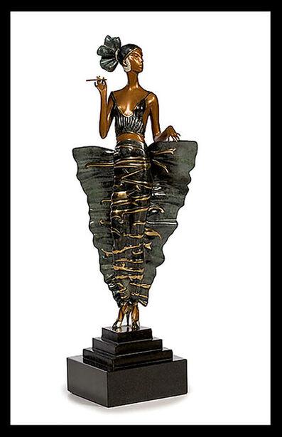 Erté (Romain de Tirtoff), 'ERTE Signed BRONZE Sculpture FEMME FATALE Mint Original Romain de Tirtoff OFFERS', 1970-1989