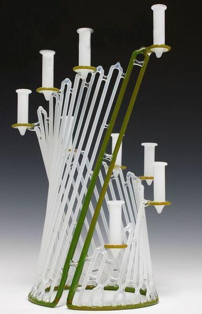 Micah Evans, 'Green and White Menorah', 2013
