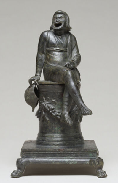 'Thymiaterion in the Form of a Comic Actor Seated on an Altar and a Separate Theatrical Wig',  first half of 1st century