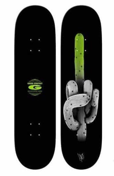 "Ludo, '""Cactus"" skateboard deck', 2018"
