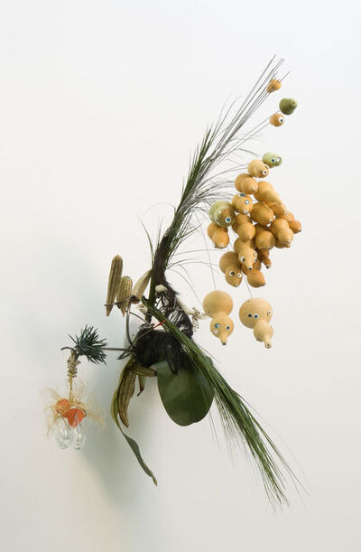 Rina Banerjee, 'Lentil flour, chickpeas mixed fermented friedballs presented in the leaf of bananas could cure the hunger of a labouring man', 2008