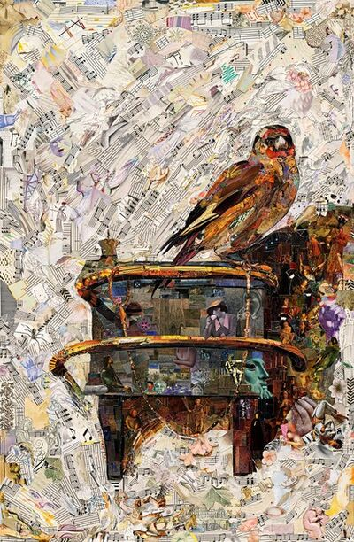 Vik Muniz, 'The Mauritshuis (The Goldfinch, after Carel Fabritius) (Repro)', 2020