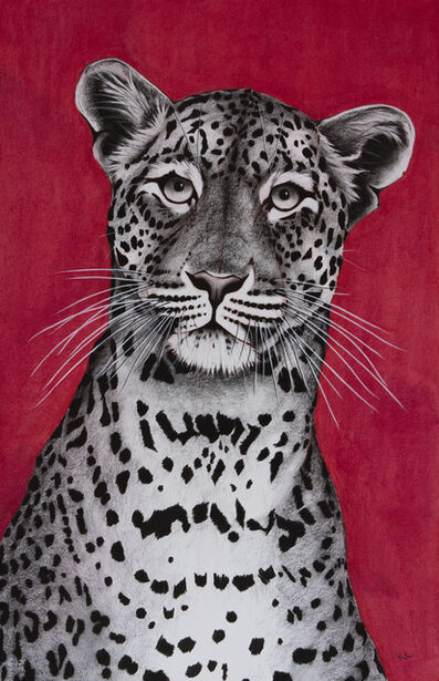 Rose Corcoran, '7. Leopard on Red', 2018