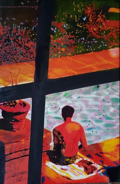 Josepha Gutelius, 'Inhabiting New Earth (Man at Poolside)', 2020