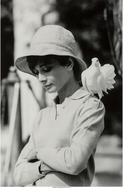Terry O'Neill, 'Audrey Hepburn with Dove, St. Tropez', 1967