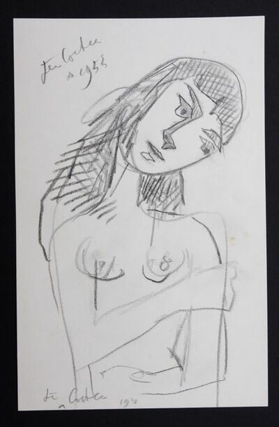Jean Cocteau, 'Woman Thinking', 1955