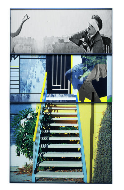 John Baldessari, 'The Overlap Series: Arm and Blindfolded Man/Stairs', 2001