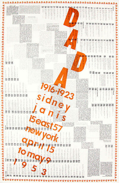Marcel Duchamp, 'International DADA Exhibition 1916-1923', 1953