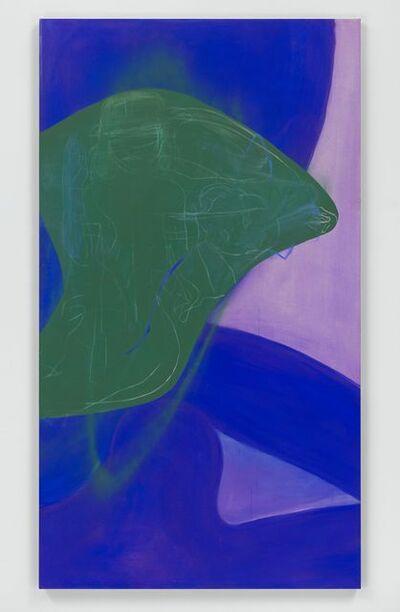 Rita Ackermann, 'Vertical Water Lily Blues III', 2018