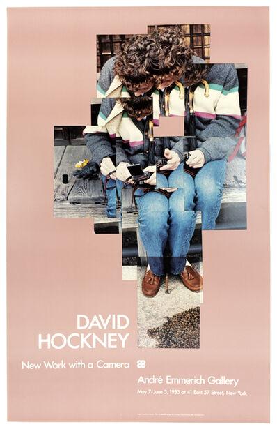 David Hockney, 'Vintage David Hockney Poster: Andre Emmerich Gallery 1983 (Gregory loading his Camera 1983)', 1983