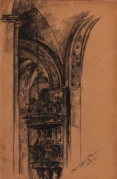Otto Piene, 'Sacred interior', 1946