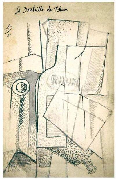 Fernand Léger, 'La Bouteille de Rhum', 1914