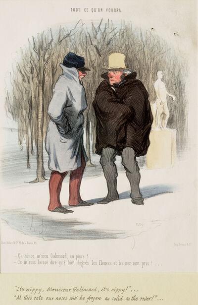 Honoré Daumier, 'Ça pince, M'sieu Galimard, ça pince!', 1848