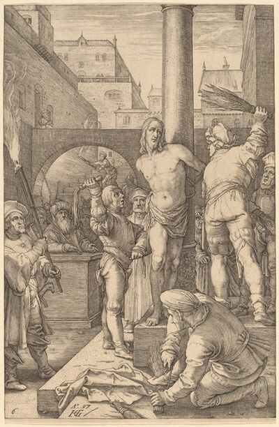 Hendrik Goltzius, 'Flagellation of Christ', 1597
