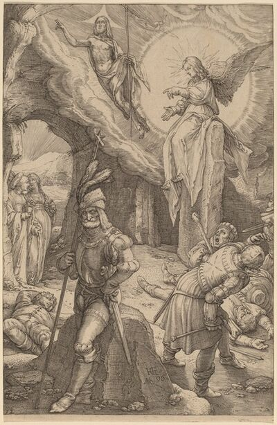 Hendrik Goltzius, 'The Resurrection', 1596