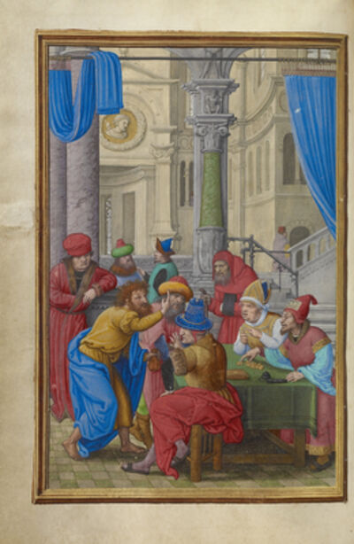 Simon Bening, 'Judas Receiving the Thirty Pieces of Silver', 1525-1530