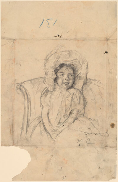 Mary Cassatt, 'Smiling Margot Wearing a Ruffled Bonnet', ca. 1902