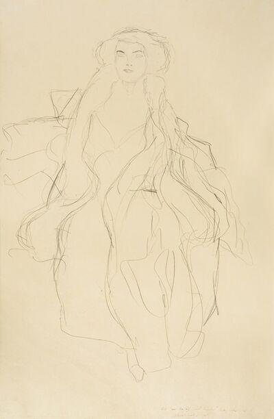 Gustav Klimt, 'Study for portrait of Amalie Zuckerkandl', 1913-1914
