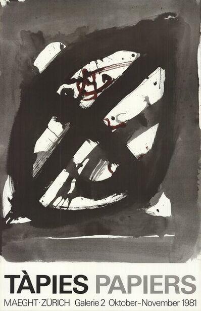 Antoni Tàpies, 'Papiers', 1981