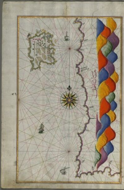 Piri Reis, 'Book on Navigation ', Late 17th century-early 18th century