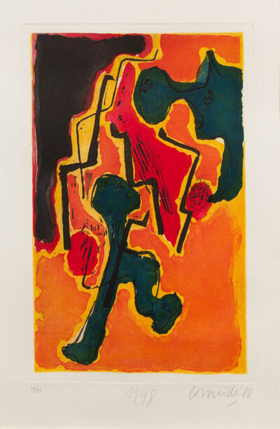 Corneille (Cornelius Guillaume Beverloo), 'Personages en soie', 1948-88