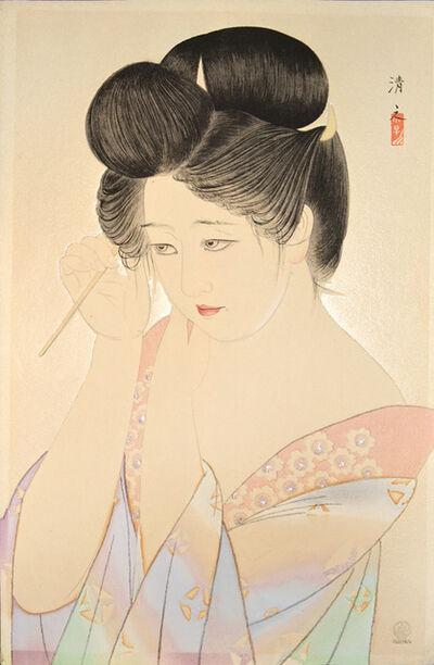 Kiyoshi Saito, 'Dressing Her Hair', 1931