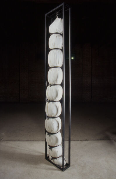 Tania Candiani, 'Soft Column. (Three bodies swings in a warehouse).', 2003
