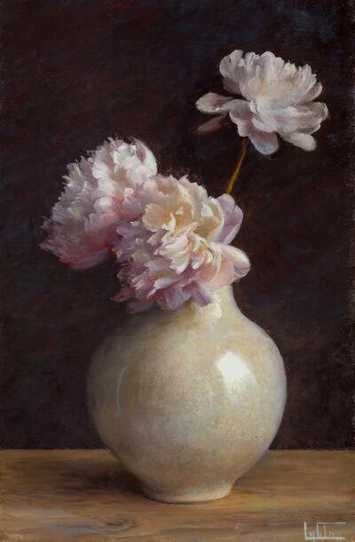 Jean Lightman, 'Peonies in a Raku Vase', 2018